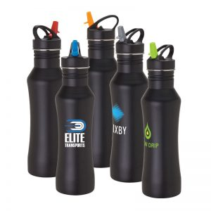 Stainless steel 22 oz bottle with logo. BPA free Item KW1502
